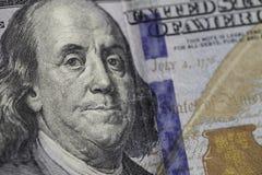 Cientos 100 billetes de dólar Imagenes de archivo
