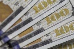Cientos 100 billetes de dólar Fotografía de archivo libre de regalías