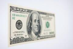 Cientos billetes de dólar Fotografía de archivo