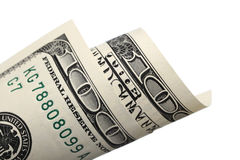 Cientos billetes de dólar Imagen de archivo