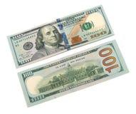 Cientos billetes de dólar Imágenes de archivo libres de regalías