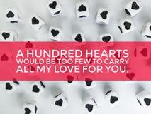 Cientos corazones serían demasiado pocos para llevar todo mi amor para usted cita libre illustration
