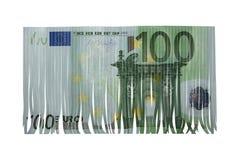 Cientos cortes del euro Imágenes de archivo libres de regalías