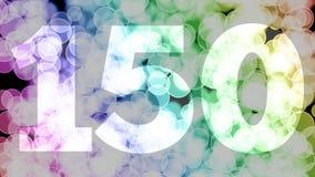 Cientos cuarenta y nueve a cientos cincuenta puntos, nivel, fila se descoloran la animación de in/out con el fondo de mudanza del ilustración del vector