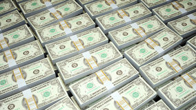 Cientos cuentas de dólar foto de archivo