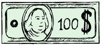Cientos cuentas de dólar libre illustration