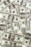 Cientos cuentas de dólar Fotografía de archivo libre de regalías