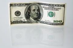 Cientos cuentas de dólar Imagenes de archivo