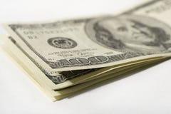 Cientos cuentas de dólar imagen de archivo