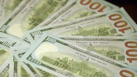 Cientos cuentas de dólar almacen de video