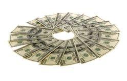 Cientos cuentas de dólar: Dos miles Fotografía de archivo