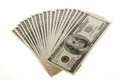 Cientos cuentas de dólar: Dos miles Imagen de archivo libre de regalías