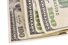 Cientos cuentas de dólar de EE. UU. Imágenes de archivo libres de regalías