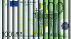Cientos cuentas del euro Imágenes de archivo libres de regalías