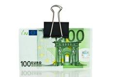 Cientos cuentas euro Imágenes de archivo libres de regalías