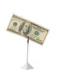 Cientos dólares Imagen de archivo libre de regalías
