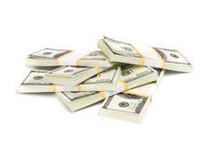 Cientos dólares Imágenes de archivo libres de regalías
