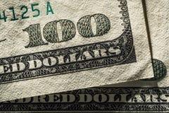 Cientos dólares Fotografía de archivo libre de regalías