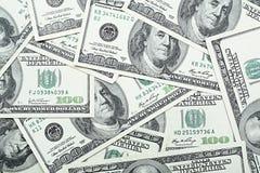 Cientos dólares Foto de archivo libre de regalías