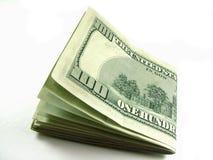 Cientos dólares Fotografía de archivo