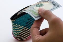 Cientos dólares americanos Foto de archivo libre de regalías