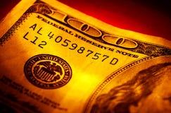 Cientos dólares Bill Imagen de archivo libre de regalías