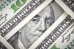 Cientos dólares Bill Imágenes de archivo libres de regalías
