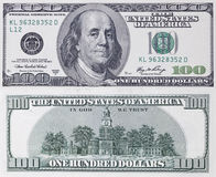 Cientos dólares de billete de banco Fotos de archivo libres de regalías