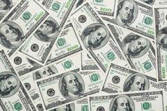 Cientos dólares de billetes de banco Foto de archivo libre de regalías