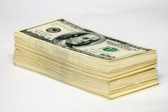 Cientos dólares de E Fotos de archivo libres de regalías