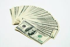 Cientos dólares de E Foto de archivo