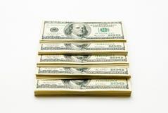 Cientos dólares de E Fotos de archivo