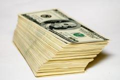 Cientos dólares de E Foto de archivo libre de regalías