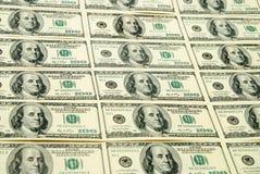 Cientos dólares de E Imagen de archivo