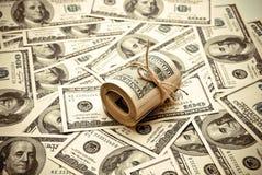 Cientos dólares de E.E.U.U. Imagenes de archivo