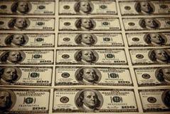 Cientos dólares de E.E.U.U. Foto de archivo