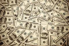 Cientos dólares de E.E.U.U. Fotografía de archivo libre de regalías