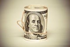 Cientos dólares de E.E.U.U. Imagen de archivo