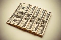 Cientos dólares de E.E.U.U. Fotos de archivo