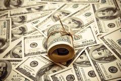 Cientos dólares de E.E.U.U. Fotografía de archivo