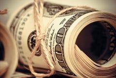 Cientos dólares de E.E.U.U. Foto de archivo libre de regalías