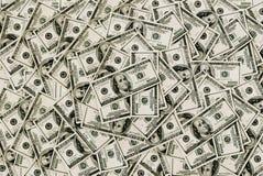 Cientos dólares de fondo de las cuentas Imágenes de archivo libres de regalías