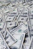 Cientos dólares de fondo de las notas Imagen de archivo libre de regalías