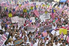 Cientos de miles de inmigrantes participan en marzo para los inmigrantes y los mexicanos que protestan contra reforma de inmigrac Fotos de archivo libres de regalías