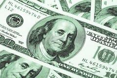 Cientos dólares Macro Imagen de archivo libre de regalías