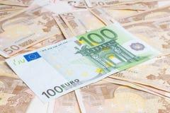 Cientos euros Fotografía de archivo