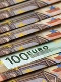 Cientos euros Fotografía de archivo libre de regalías