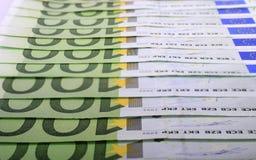 Cientos euros Imágenes de archivo libres de regalías