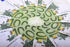 Cientos euros Fotos de archivo libres de regalías