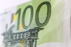 Cientos euros Macro imágenes de archivo libres de regalías